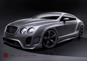 Bentley Continental GT by Vilner - Design Sketch