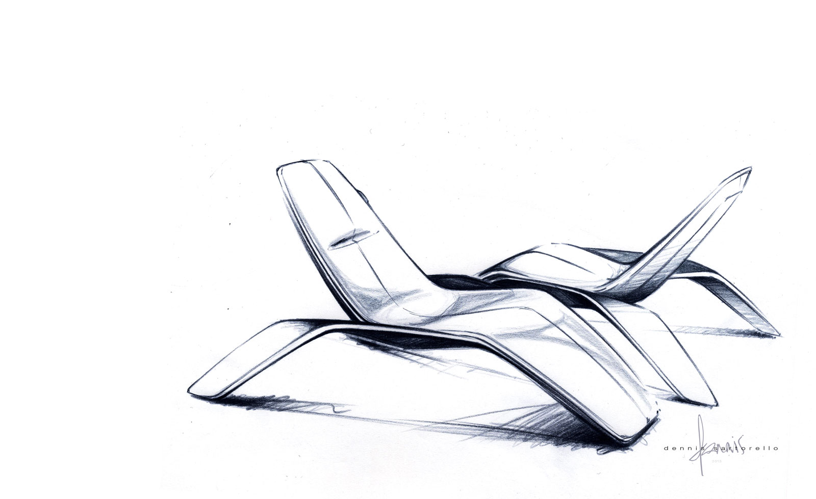 chair design drawing. Ford Design Lounge Chair - Sketch Drawing