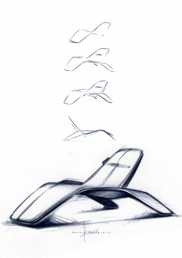 Ford design Lounge Chair - Design Sketches