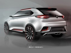 MG CS Urban SUV Concept: preview sketches