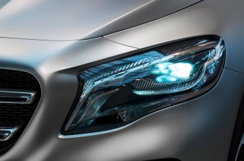 Mercedes-Benz Concept GLA Headlight detail