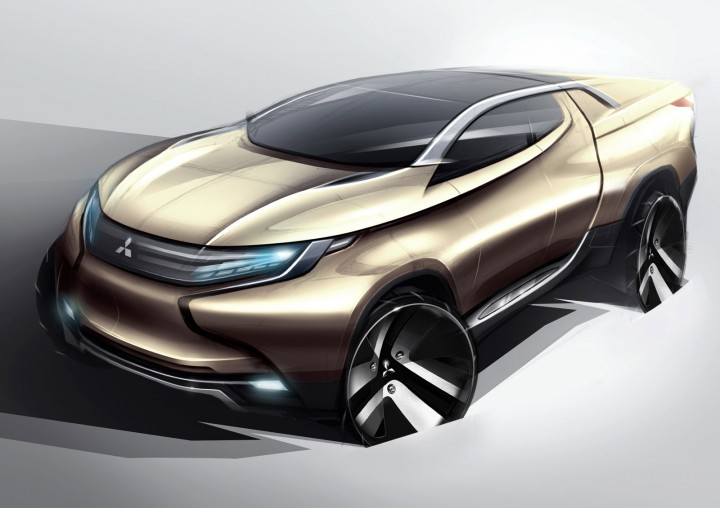 Mitsubishi Concept Gr Hev Car Body Design