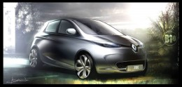 Renault ZOE - Design Sketch