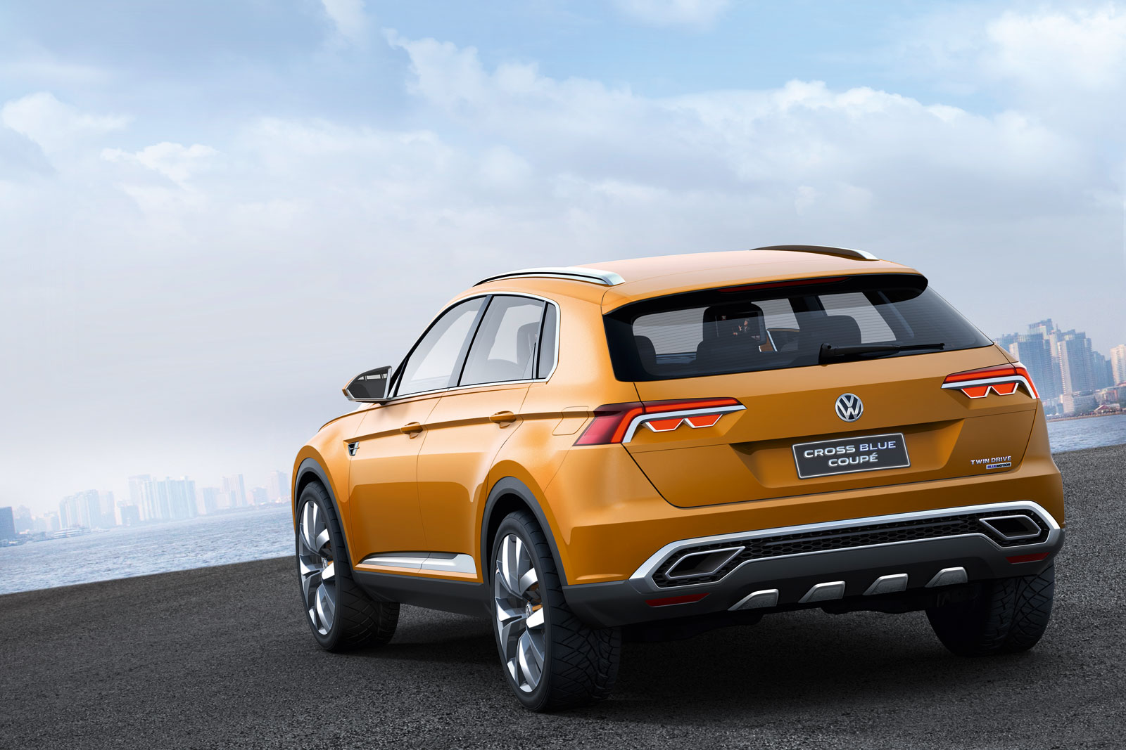 Volkswagen CrossBlue Coupe Concept Car Body Design
