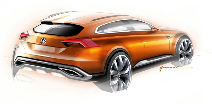Volkswagen CrossBlue Coupe Concept - Design Sketch