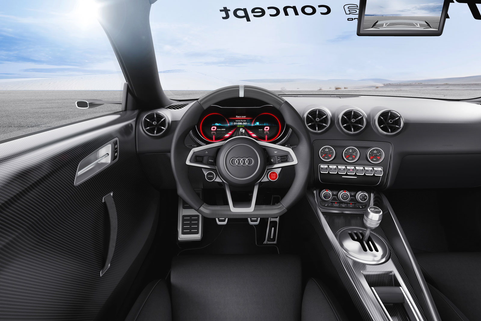 Audi tt ultra quattro concept interior car body design for Audi tt interieur
