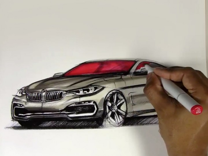 2014 BMW 4 Series Coupe Marker Rendering