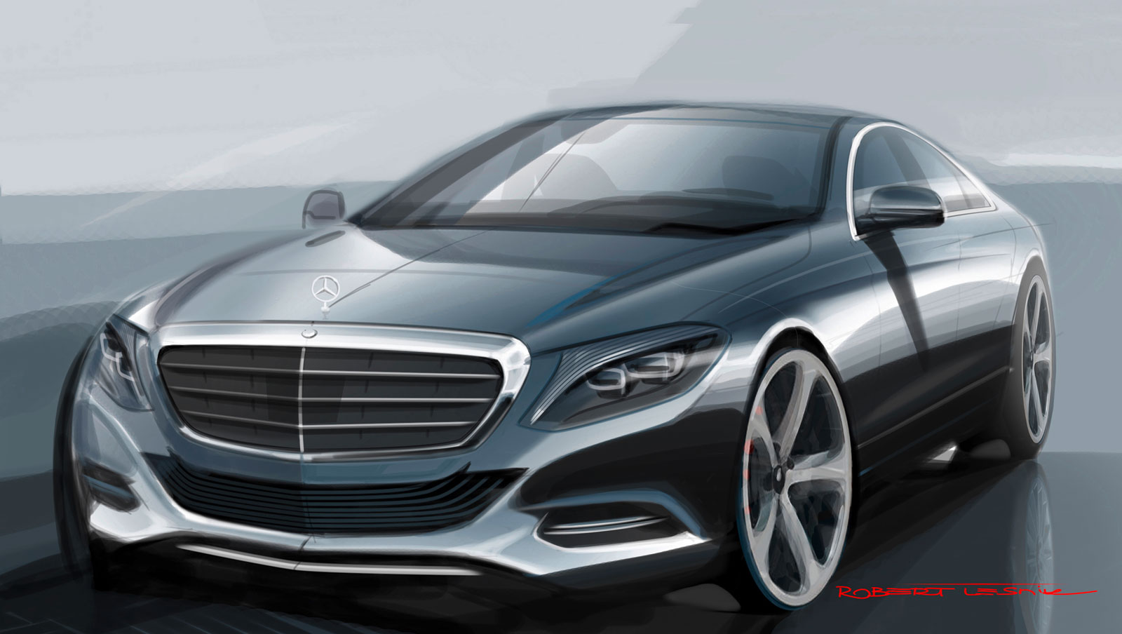 2014 mercedes benz s class design sketch car body design for What is the newest mercedes benz
