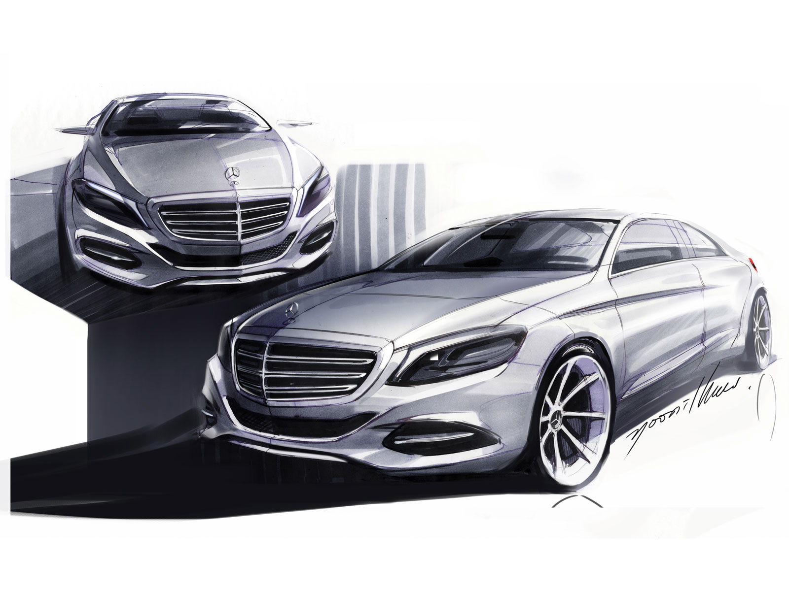 2014 mercedes benz s class design sketches car body design