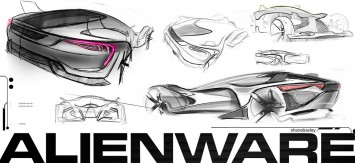 AlienWare Concept Car Design Sketches