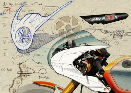 BMW Concept Ninety Design Sketches