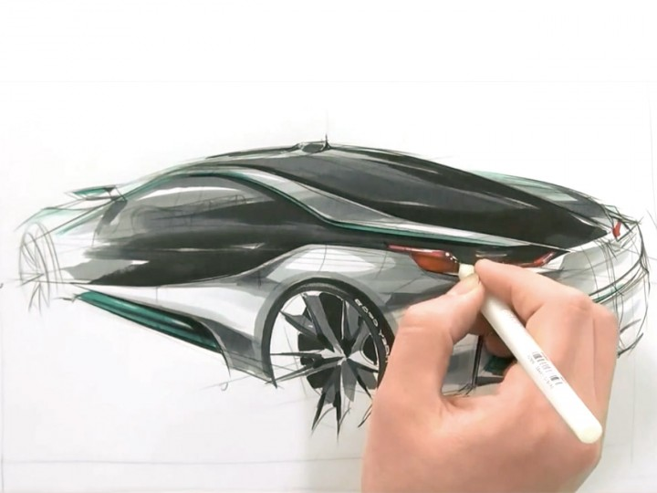 BMW i80 Concept design sketching