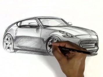 Nissan 370Z Car Design Sketch - Car Body Design