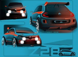 Renault Twin'Run Concept Design Sketches