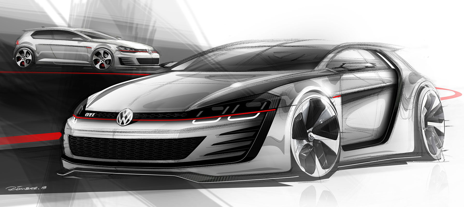 volkswagen previews design vision gti concept car body design. Black Bedroom Furniture Sets. Home Design Ideas