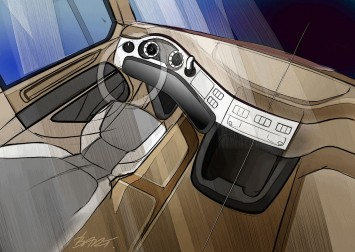 DAF CF Truck - Interior design sketch