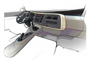 DAF LF Truck - Interior design sketch