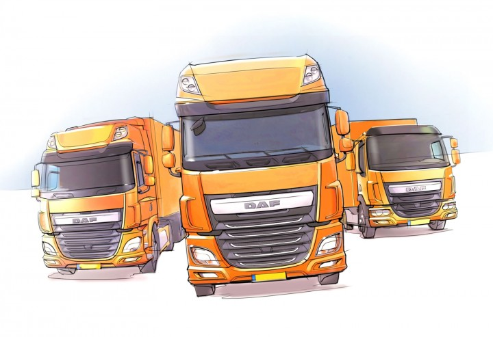 DAF Trucks range - Design Sketch