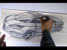 Drawing-cars-on-newsprint-paper