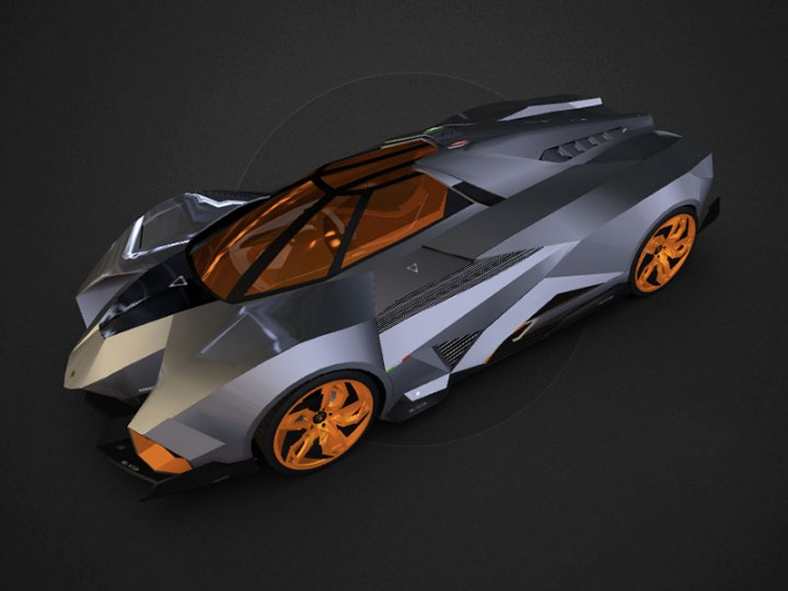 Building the Lamborghini Egoista 3D Model