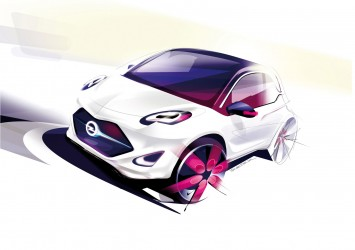 Opel EVE Concept Design Sketch by Lukas Tanecek