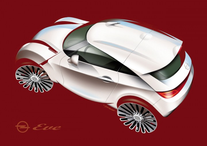Opel EVE Concept Design Sketch by Paulo Konno