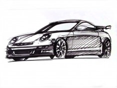 Porsche-911-design-sketch-by-Arvind-Ramkrishna
