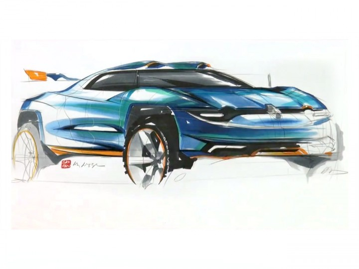 Renault Alpine Concept sketch video