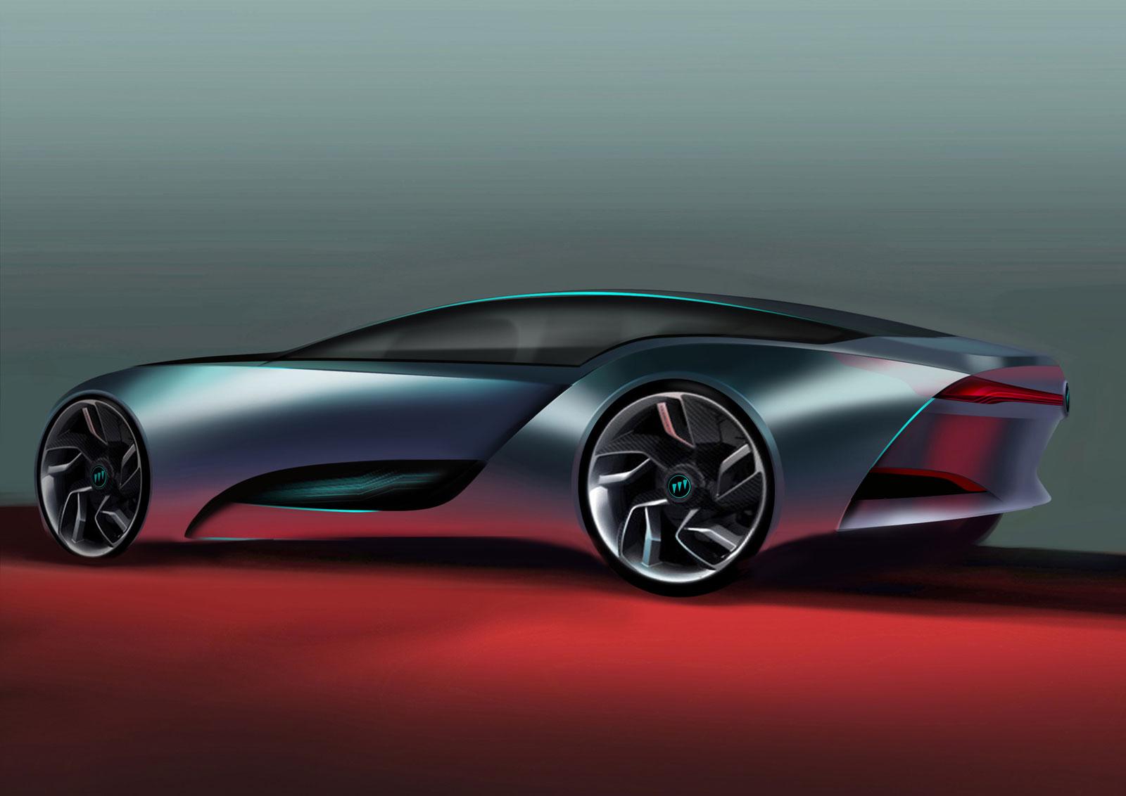 Buick Riviera Concept Design Sketch Car Body Design