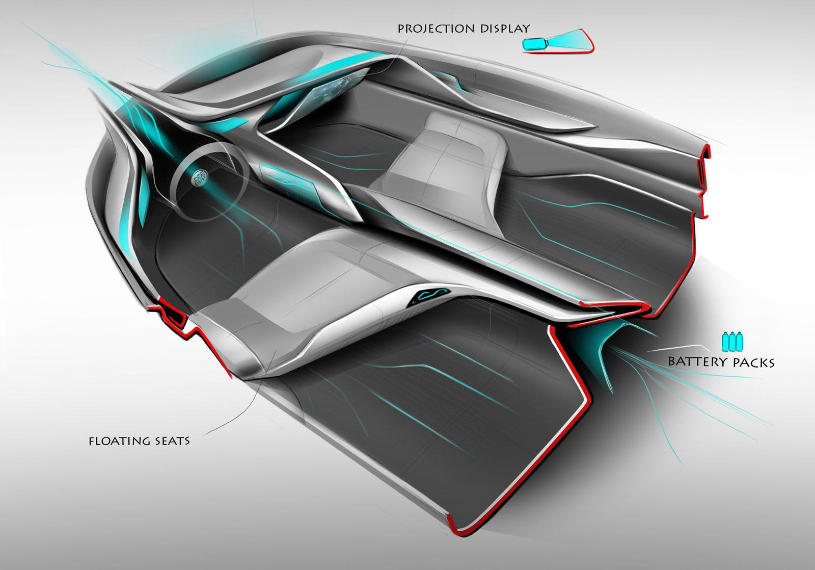 buick riviera concept interior design sketch car body design. Black Bedroom Furniture Sets. Home Design Ideas
