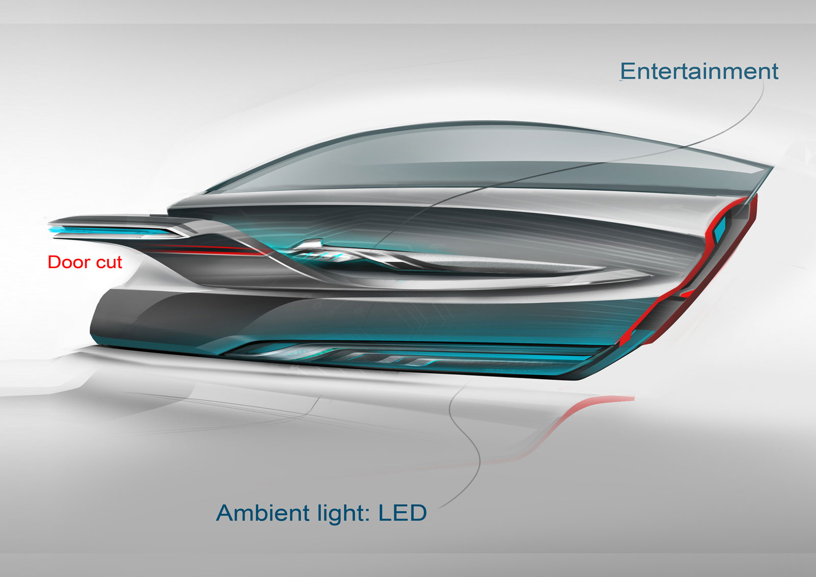 Buick Riviera Concept Interior Design Sketch Door