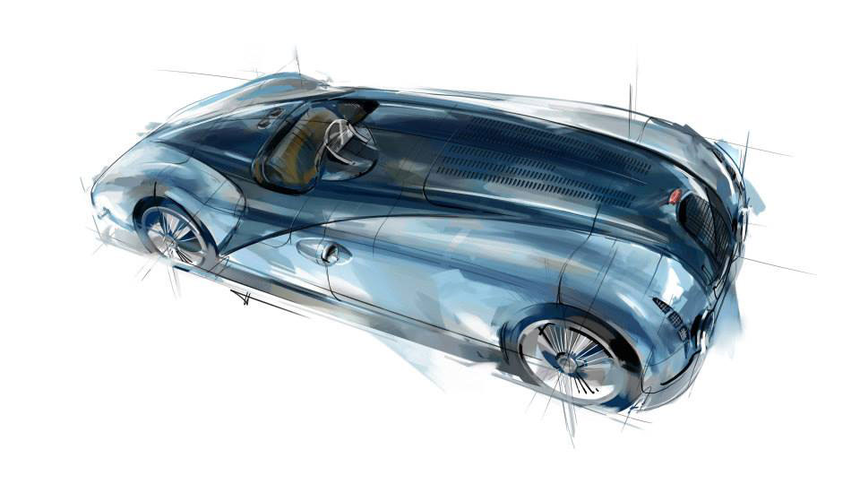 1937 Bugatti Type 57g Tank Design Sketch Car Body Design