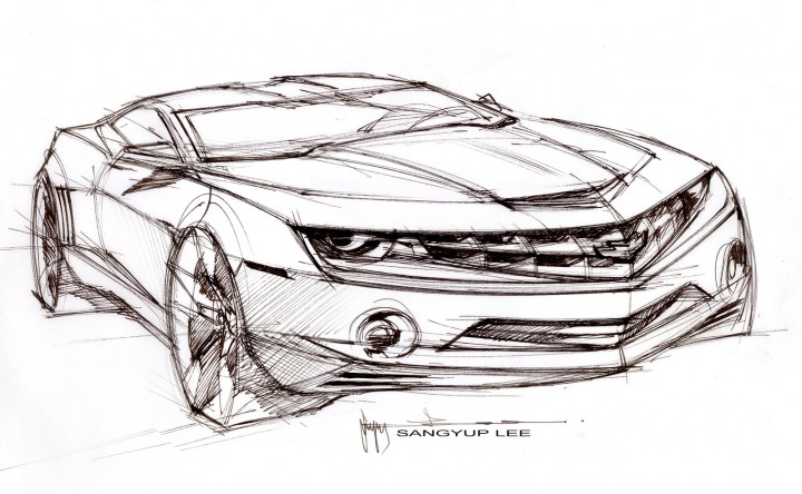 Hot 3d camaro coloring cars pictures photos images - The Design Sketch Board Car Body Design