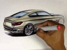 2014-BMW-4-Series-Coupe-Marker-Design-Sketching