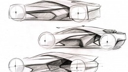 Koenigsegg Prestera Concept by Richard Stark - Design Sketches