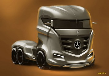 Mercedes-Benz Axor Truck Concept Design Sketch