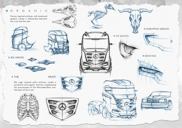 Mercedes-Benz Axor Truck Concept Design Sketches