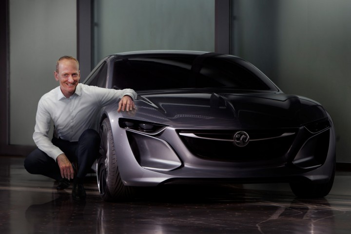 Opel Monza Concept and Opel CEO Karl-Thomas Neumann