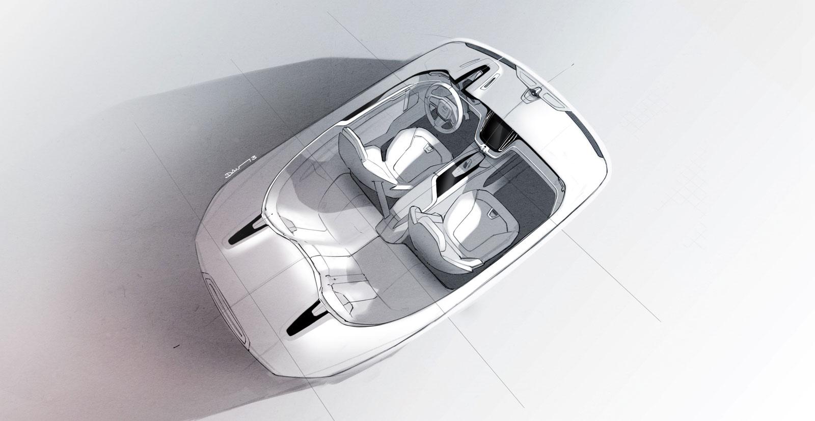 volvo concept coupe interior design sketch car body design. Black Bedroom Furniture Sets. Home Design Ideas