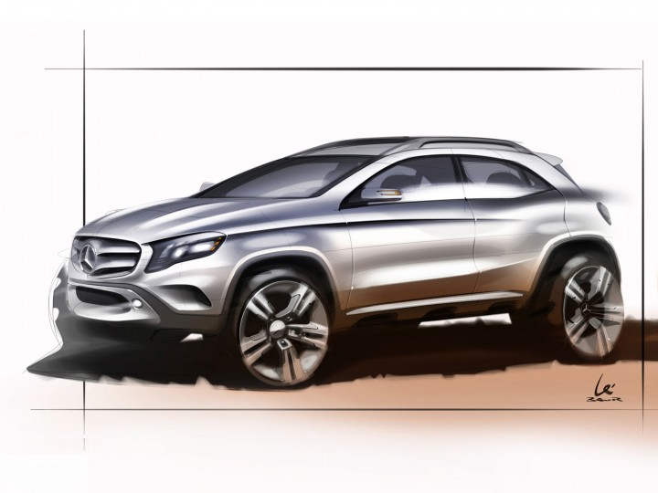 Mercedes-Benz GLA: the design