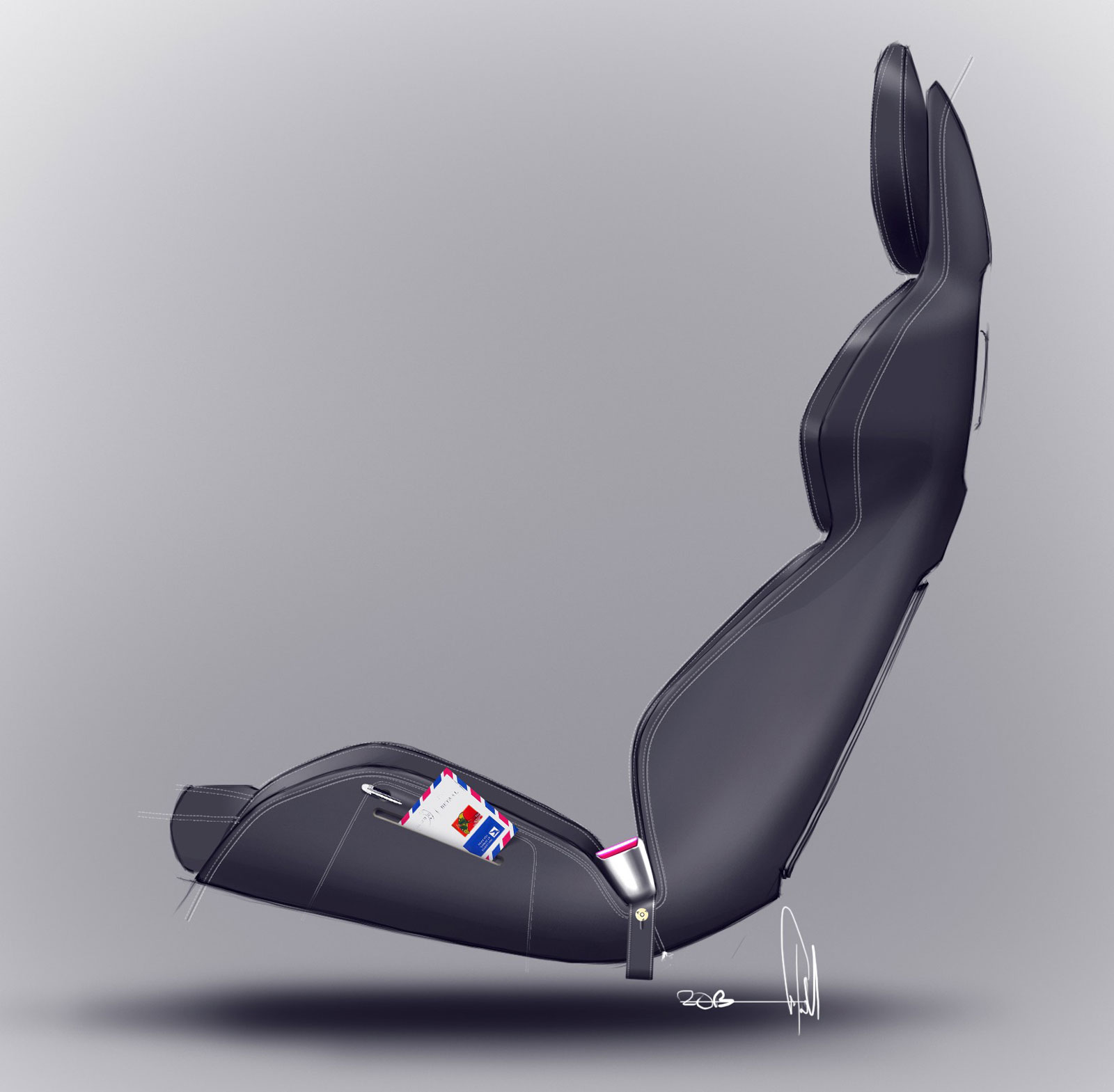 Car Interior Design: Volvo Concept Coupe Interior Seat Design Sketch