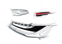 Audi A8 Healight and Tail Light Design Sketches