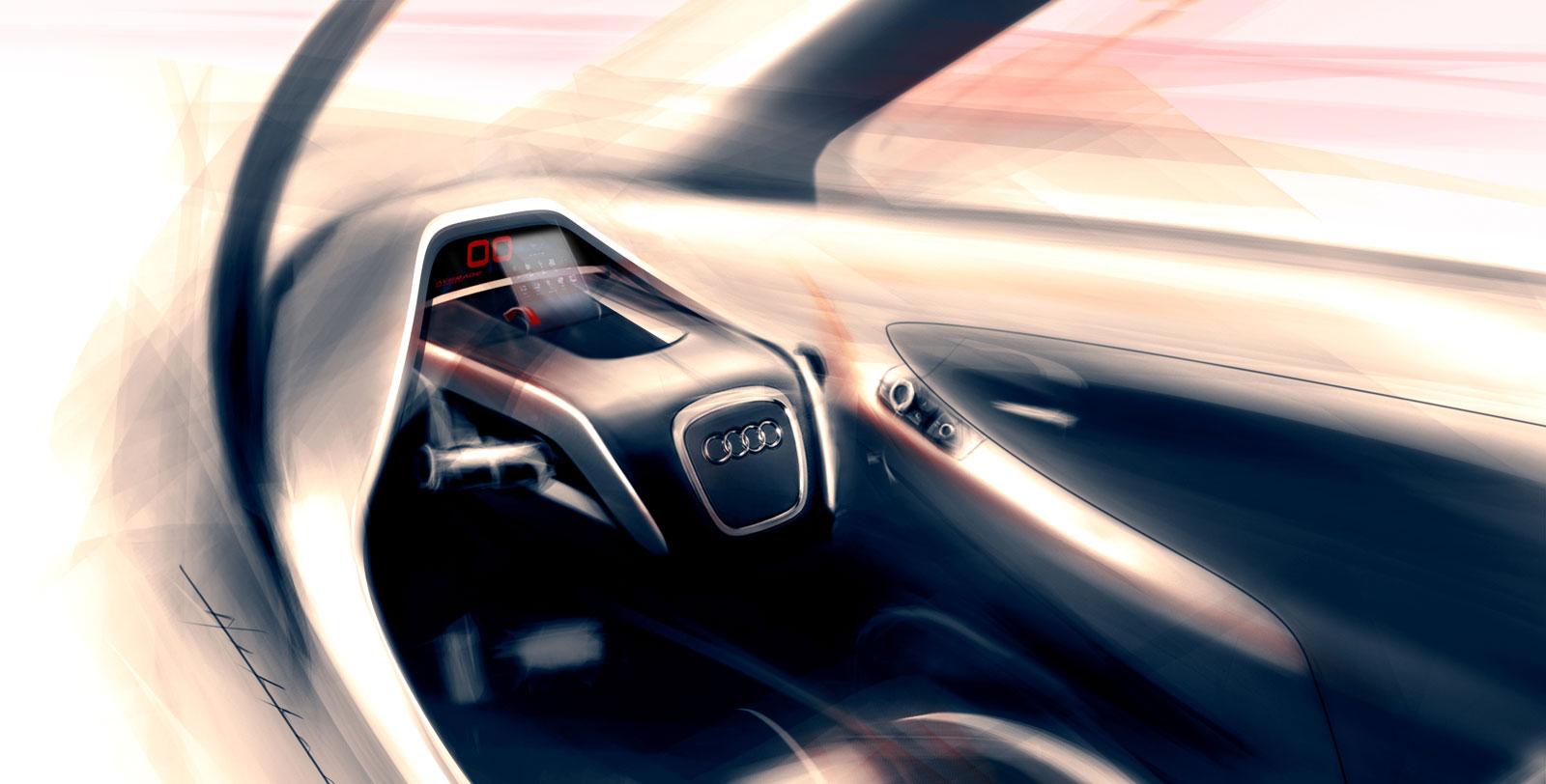 Audi m1 tandem concept interior design sketch car body for M concept interior design