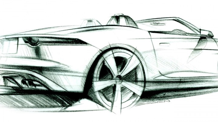 jaguar car drawing - photo #25