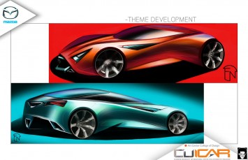 Mazda Deep Orange 3 - Design Sketches by Frederick Naaman