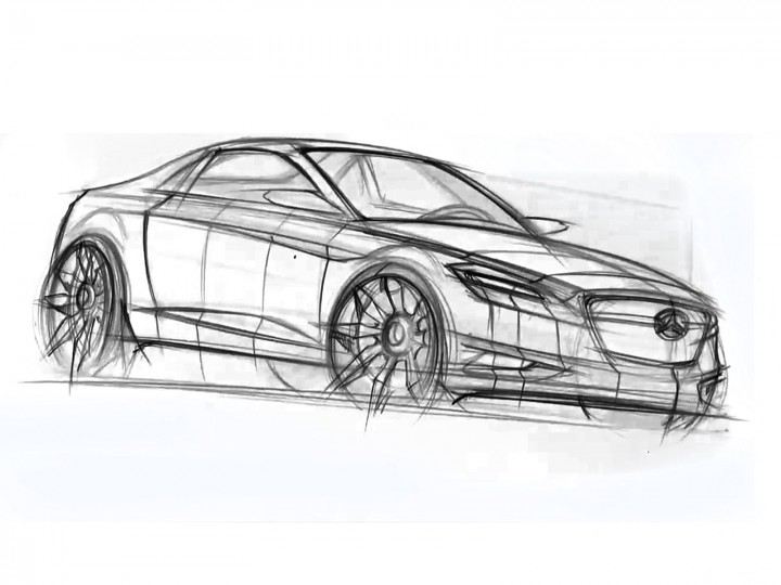 Sketching a Mercedes-Benz Coupe with Sections