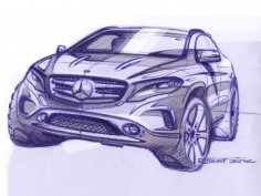 Mercedes-Benz GLA: first design sketches
