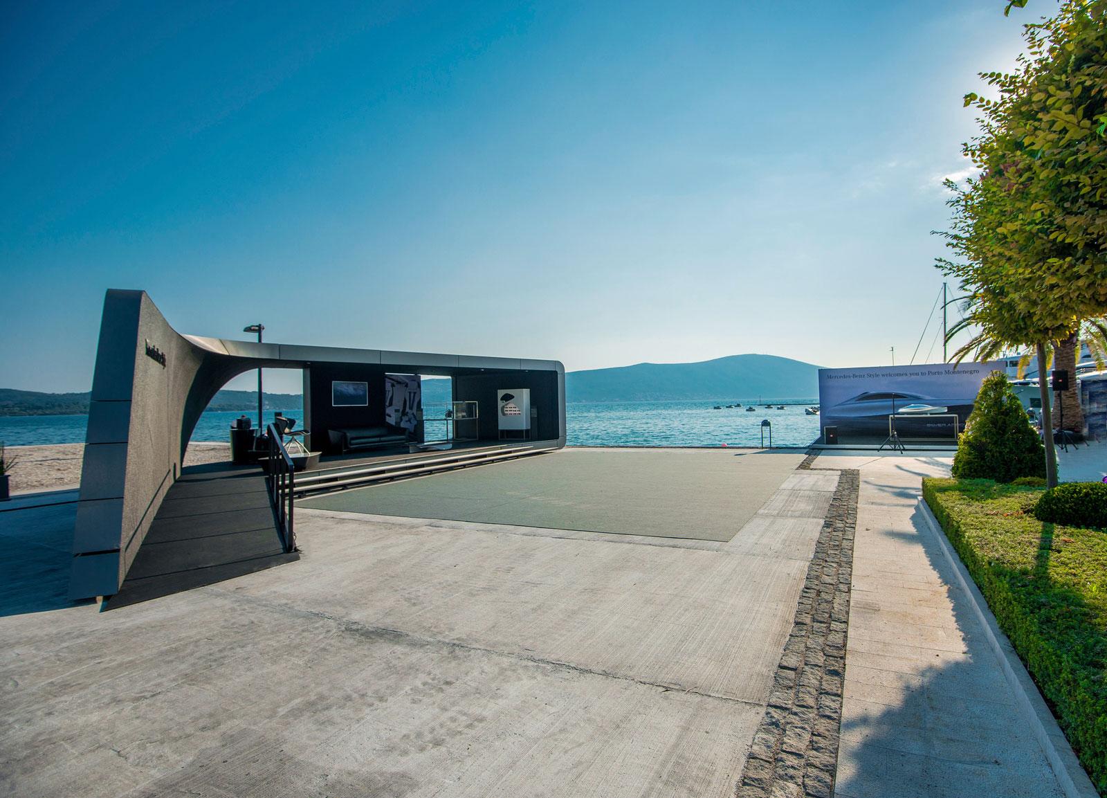 Mercedes Benz Style design pavilion in Porto Montenegro. Mercedes Benz Style design pavilion in Porto Montenegro   Car Body