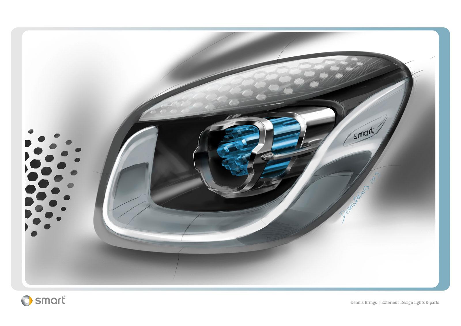 smart forjoy concept headlight design sketch car body design. Black Bedroom Furniture Sets. Home Design Ideas