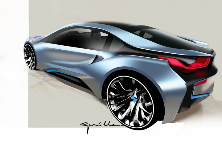 BMW I8   Design Sketch